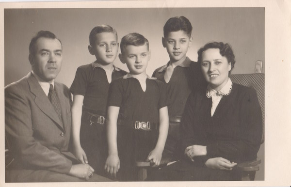 Stepan Mirovich with his wife and sons
