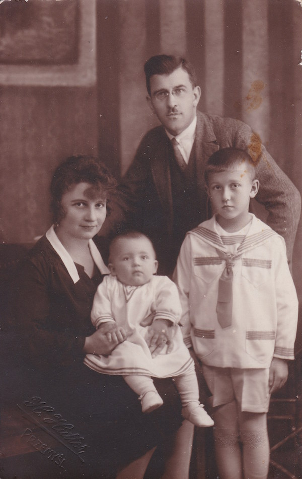 Roman Mirovich with his wife and sons