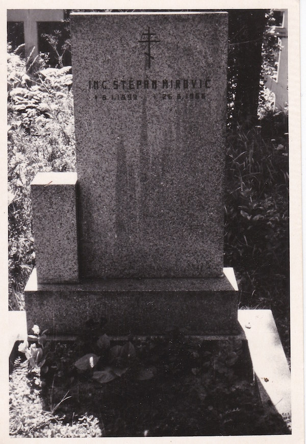 Tomb of Stephan Mirovich in Prague